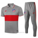 Conjunto Polo Atletico Madrid 2020-2021 Gris