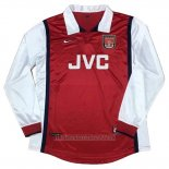 Camiseta del Arsenal Primera Manga Larga Retro 1998
