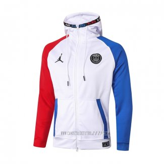 Chaqueta con Capucha del Paris Saint-Germain 2020-2021 Blanco