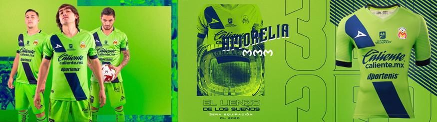 camiseta Monarcas Morelia 2020
